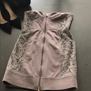 Rachel Roy Grey Strapless Dress